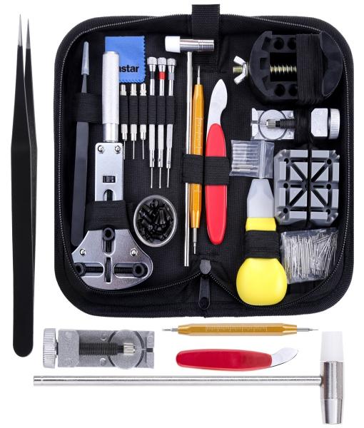 Vastar 151 PCS Kit Riparazione Orologi,Kit Attrezzi Orologiaio per Fai da te Orologi